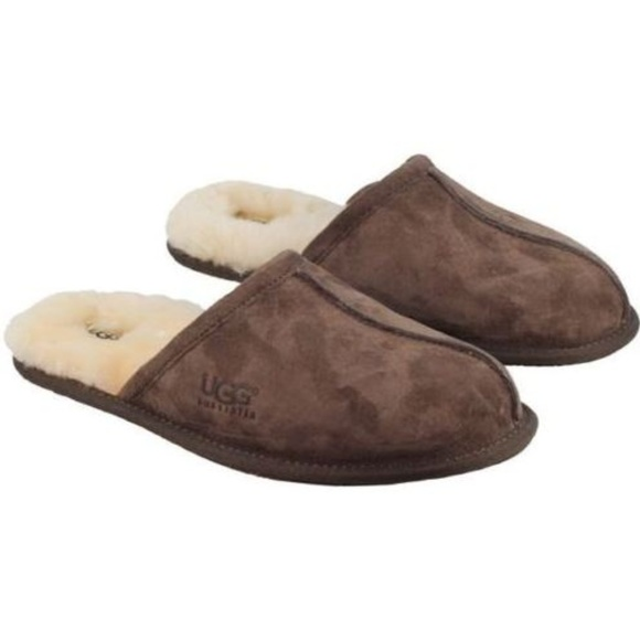 99600d871ad UGG Australia Mens Slippers Scuffs Sheepskin New